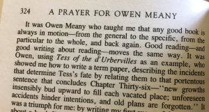 A Prayer for Owen Meany excerpt