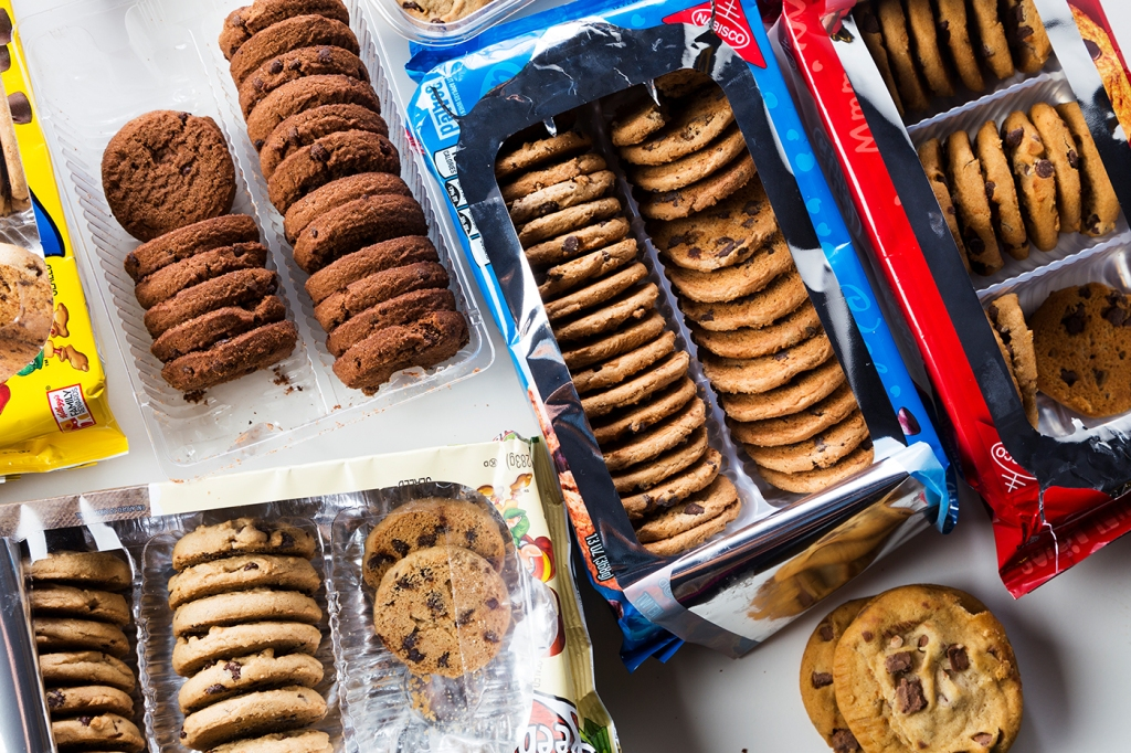 open packages of various cookies